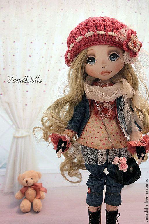 Купить Диана - коралловый, кукла, кукла ручной работы, кукла в подарок, кукла текстильная