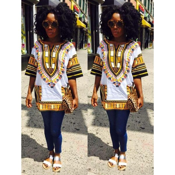 Dashiki Shirt ($40) ❤ liked on Polyvore