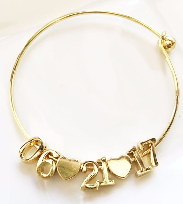 Date bracelets are the perfect engagement gift for the bride to be! See more here: http://www.weddingfavorites.com/date-bracelet.html