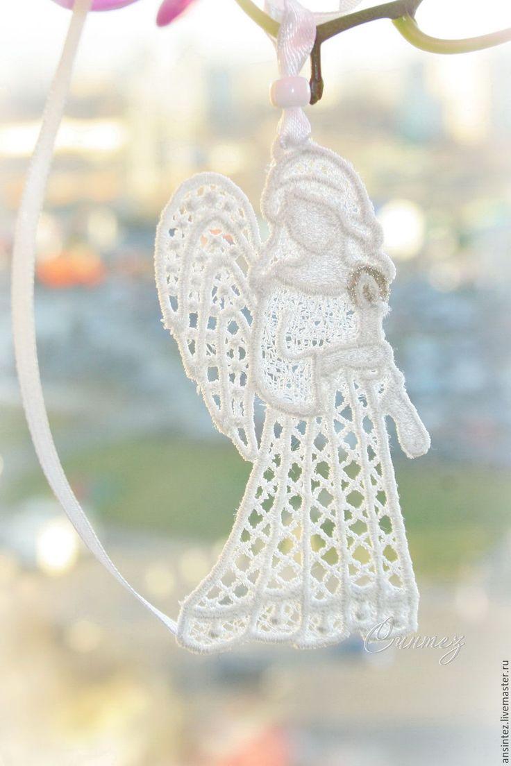 Купить вышитая подвеска интерьерная Мой Ангел элемент для модуля на кроватку - embroidery angel