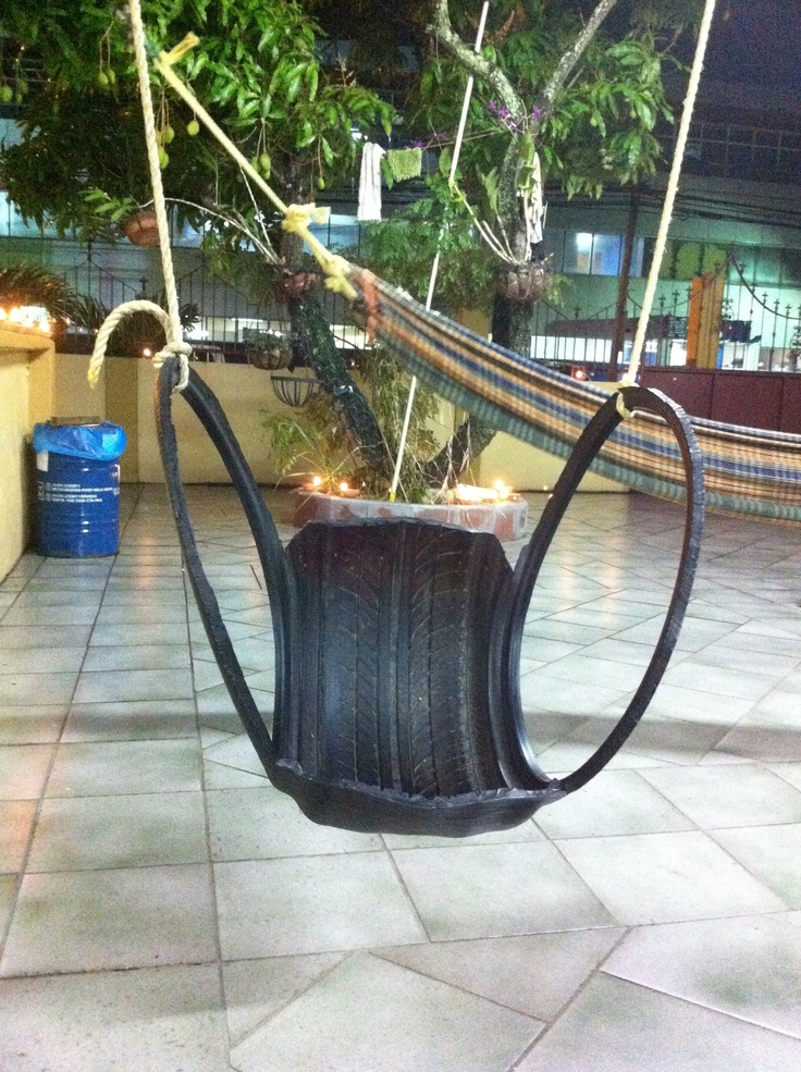 Repurpose an old tyre into a swing
