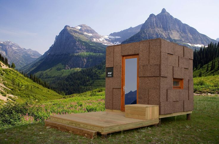 75-square-foot micro home packs in all the essentials - Curbedclockmenumore-arrow : The Ecocubo is clad in cork and lined with particle board
