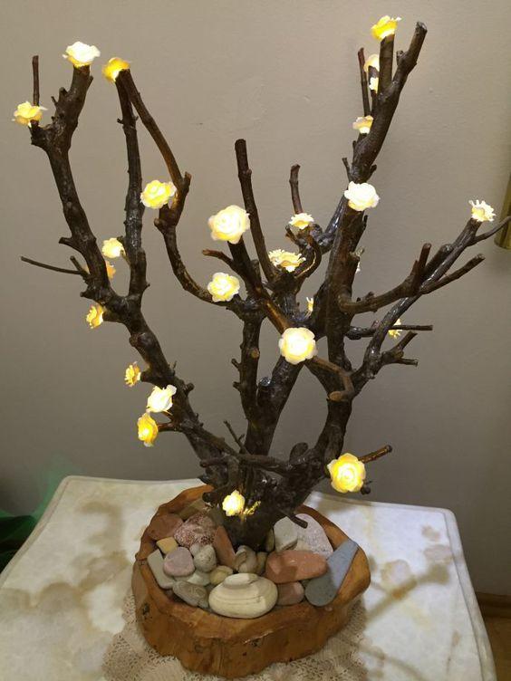 Işıklı Ağaç Dalları Aydınlatma 289885 Zetcom Tas Boyama