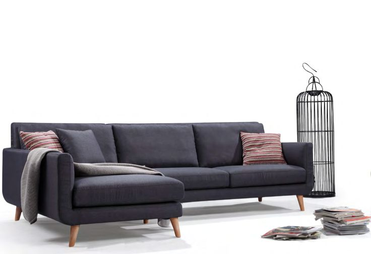 Nice classic mid century style l shaped osborne sectional for L shaped sofa colors