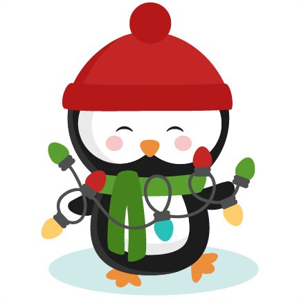 Daily Freebie 12-3-14: Miss Kate Cuttables--Penguin With Christmas Lights SVG cutting files for scrapbooking winter cut files for cricut cute svg cuts free svg cuts free svgs