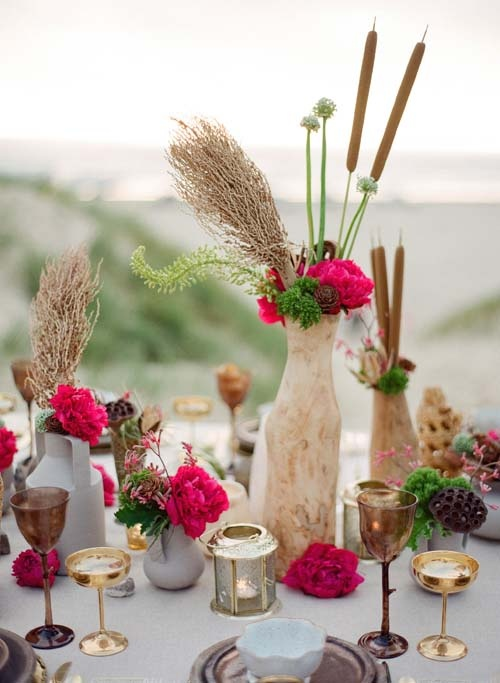 41 best images about table settings pink on pinterest Simple flower decoration ideas