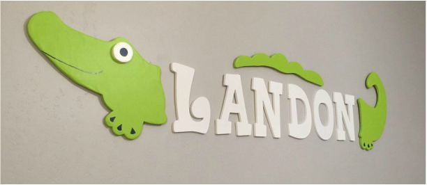 Baby Boy Nursery Decor with tutorials! Alligator theme, lime green, navy, grey, and white! SO CUTE!
