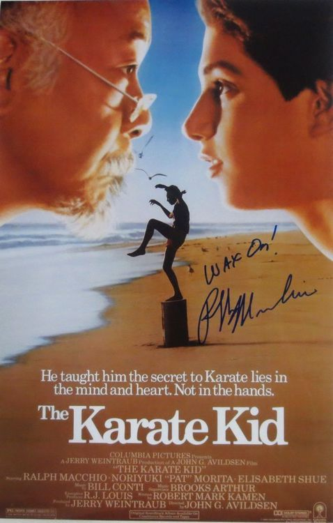 Ralph Macchio Signed 11x14 The Karate Kid Photo Wax On JSA