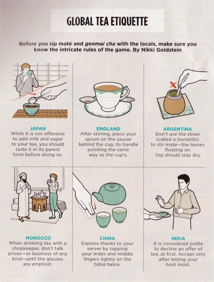 Tea advice, for when I sit down to a cup of tea with a mysterious stranger on my worldly travels.