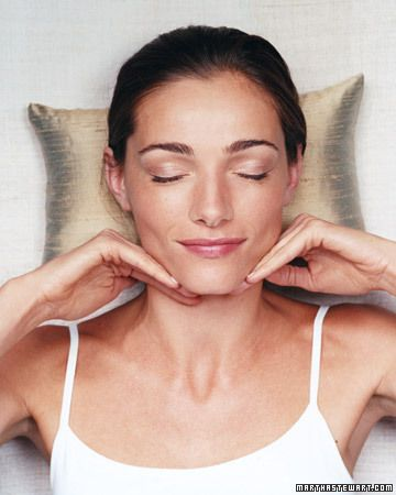 DIY Facial Massage Recipe by marthastewart: Skincare, Beauty Tips, Skin Care, Facialmassage, Facials, Facial Massage, Spa