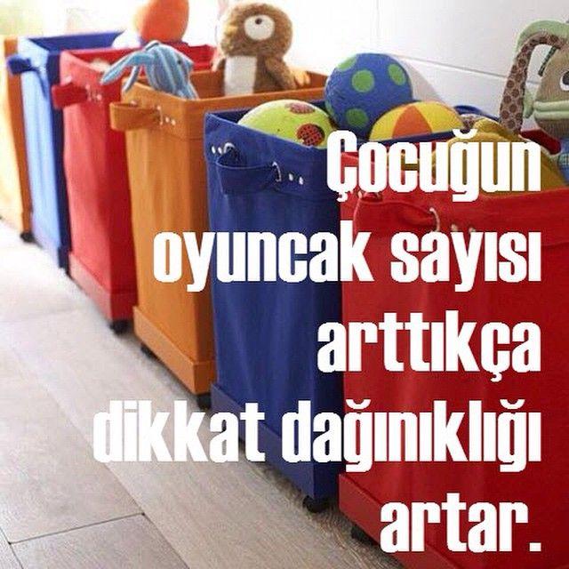 Çocuğun  oyuncak sayısı  arttıkça  dikkat dağınıklığı  artar.