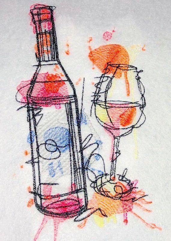 naranja P/érez pintado a mano m/ísticas 340 ml de vino de cristal inspirado en ext/ático por recuerdos-como-estos eggelston