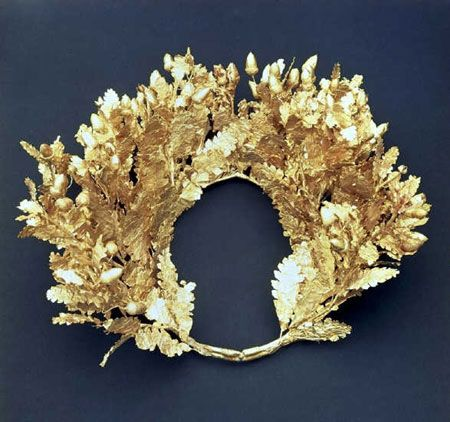 golden wreath, Vergina
