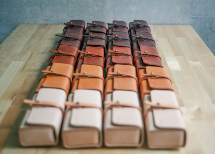 custom handmade leather pen case