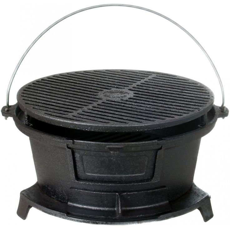 Cajun Cookware Round Seasoned Cast Iron Charcoal Hibachi Grill - GL10447 available at BBQ Guys. The Cajun Cookware hibachi grill will...