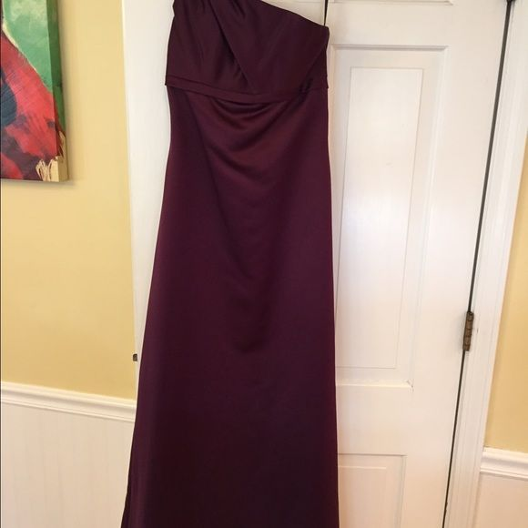 Alfred Angelo bridesmaid dresses Size 2 Alfred Angelo bridesmaid dress, one shoulder with beading detail, floor length, satin, grape color. New with tags, never worn!! I have three of these gowns! Alfred Angelo Dresses Wedding