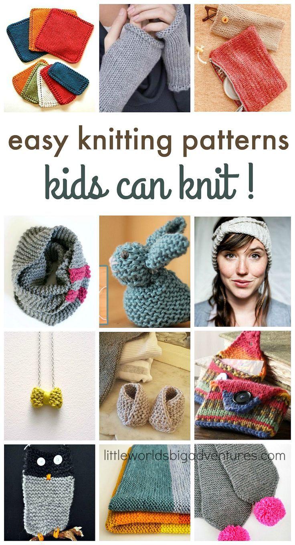 Easy Knitting Patterns Kids Can Knit Yarn Crafts Knitting