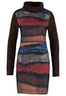 YUMA - Gebreide jurk - brown