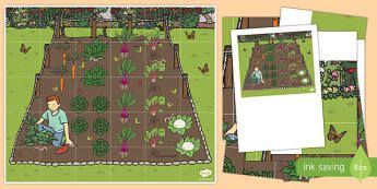 Vegetable Patch Bee-Bot Mat