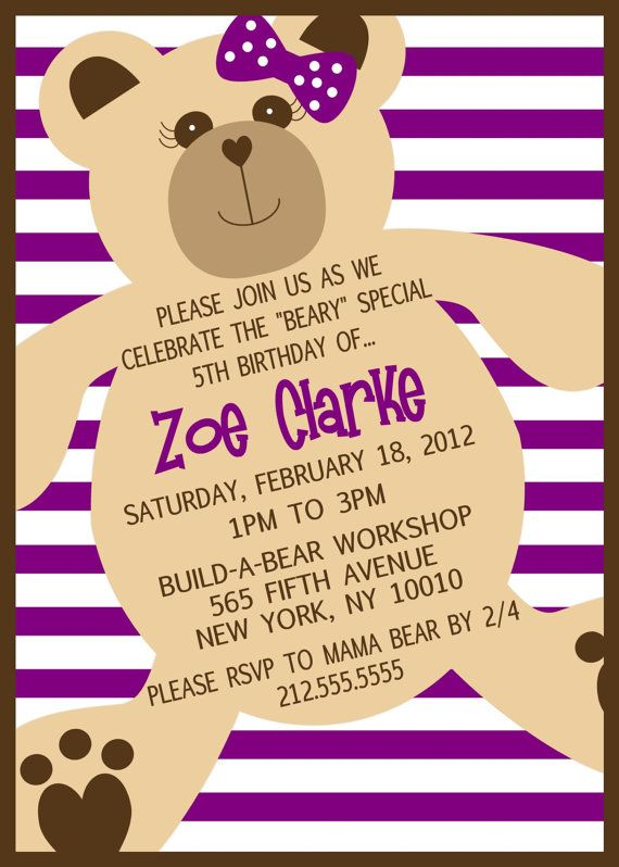 50 best Build a Bear Birthday Party images – Build a Bear Invitations Birthday