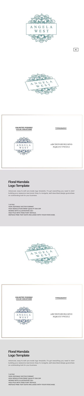 Floral Mandala Logo Template. Wedding Fonts. $32.00