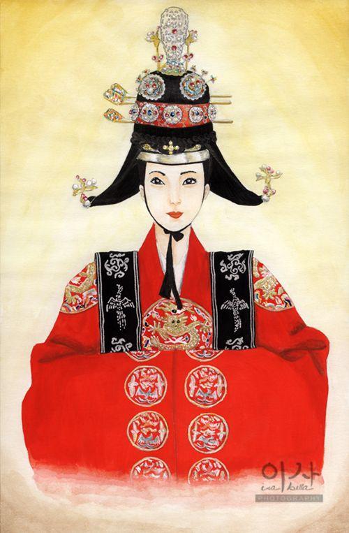 Korean Traditional Queen Wedding Dress by IsabellaBLK on DeviantArt
