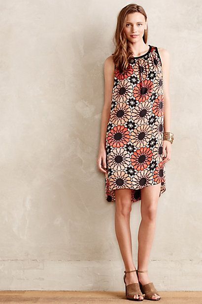 Batik Swing Dress - anthropologie