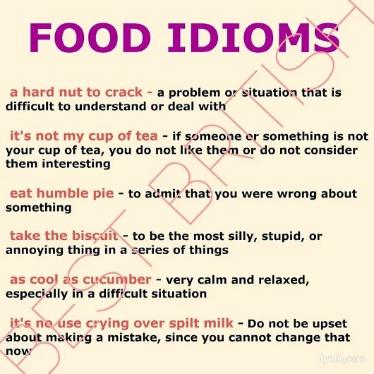 FOOD idioms #learnenglish