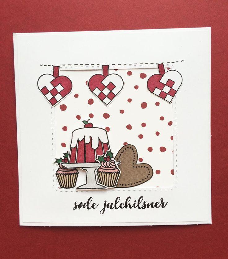 Søde julehilsner. Stempler og papir fra #threescoopsdk. Kort designet af Anja Baunsgaard #cardmaking #scrapbooking #handmadecard #papercraft #stempler #clearstamps #paperdesign #christmascard #christmas #christmas2016 #lækkerier #diy #doityourself #anjaskort