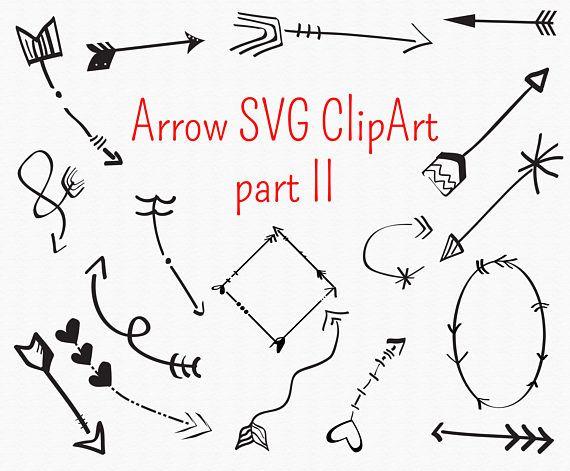 Arrow svg clipart - circle arrow vector heart arrow digital download svg, png, eps, ai, vector, hand drawn boho arrows, graphic elements