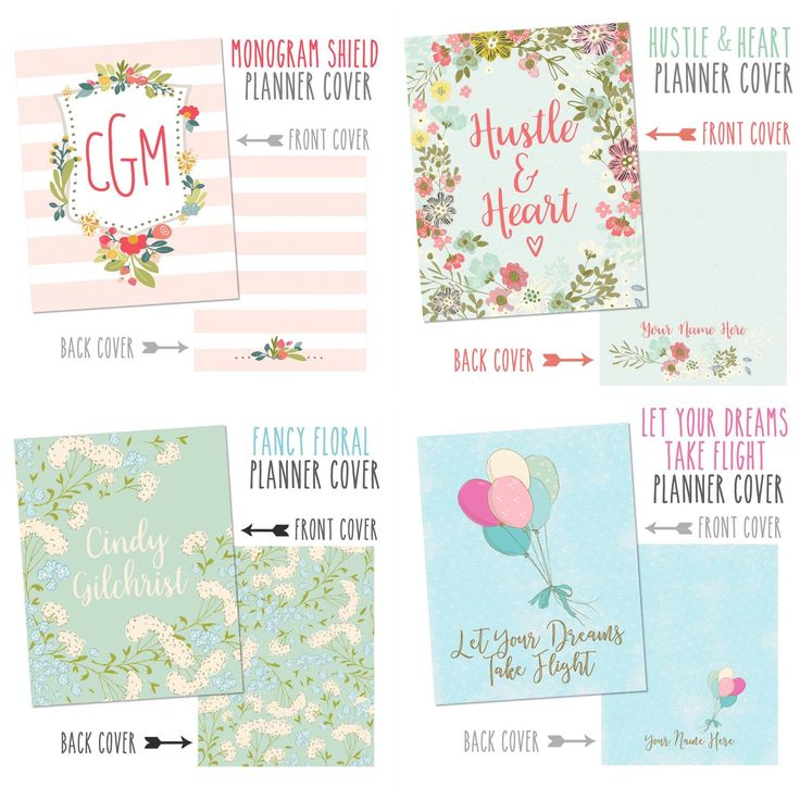 Four new planner cover sets in my shop!  All covers can be made to fit either The Happy Planner, Mini Happy Planner, Big Happy Planner, Erin Condren Planners and Recollections Planners :)