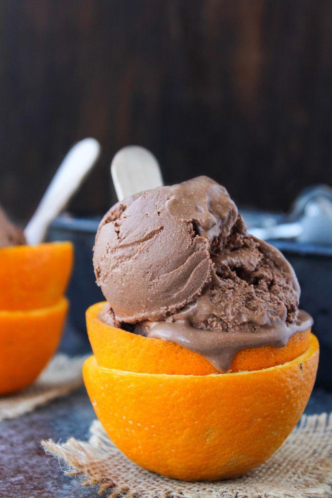 Chocolate Orange Ice Cream | A decadent five ingredient ice cream - ideal recipe for a warm summer's day! | gluten free, dairy free, paleo and vegan