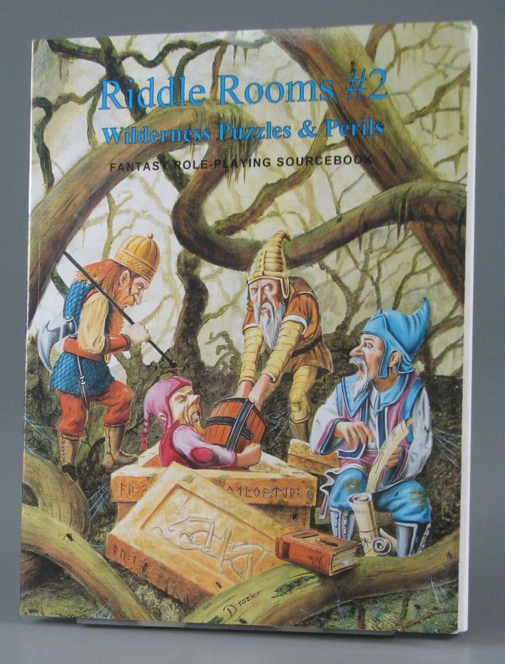 110.3278: Riddle Rooms #2: Wilderness Puzzles & Perils - Fantasy Role-Playing Sourcebook | game | Role-Playing Games | Games | Online Collections | The Strong