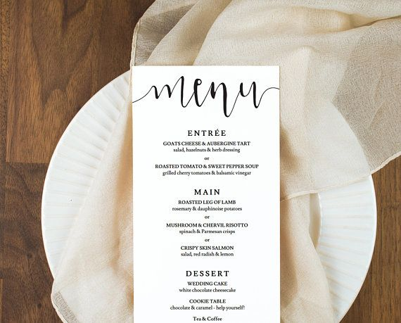 rustic wedding menu cards download wedding menu rustic editable