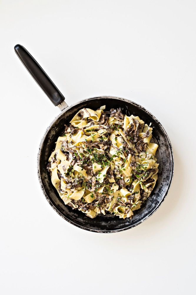 Suppilovahveropasta | K-Ruoka #pasta #sienet