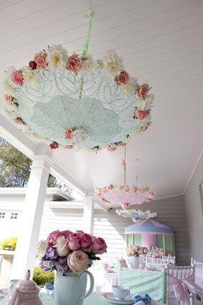 Mary Poppins themed birthday tea party or cute baby shower idea
