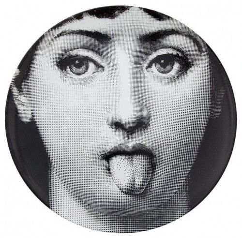 Fornasetti Porcelain Plate. This would be great fun hung in the guest bath with a couple other whimsical plates.
