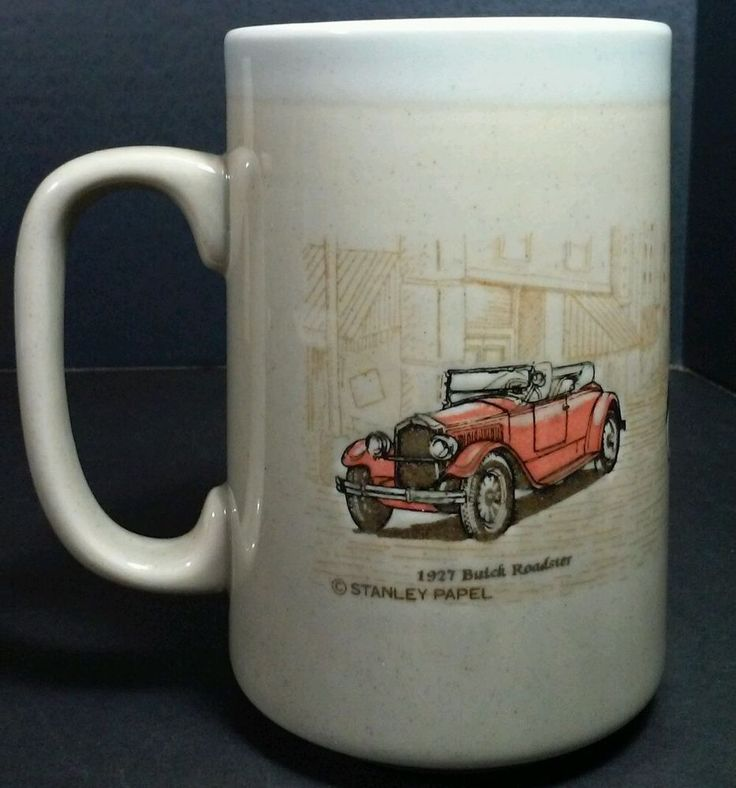Otagiri Mug Stanley Papel Car Cup Buick Roadster Chevrolet Dodge Vintage Japan #Otagiri