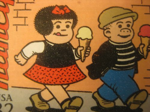 Nancy and Sluggo from the Sunday comics