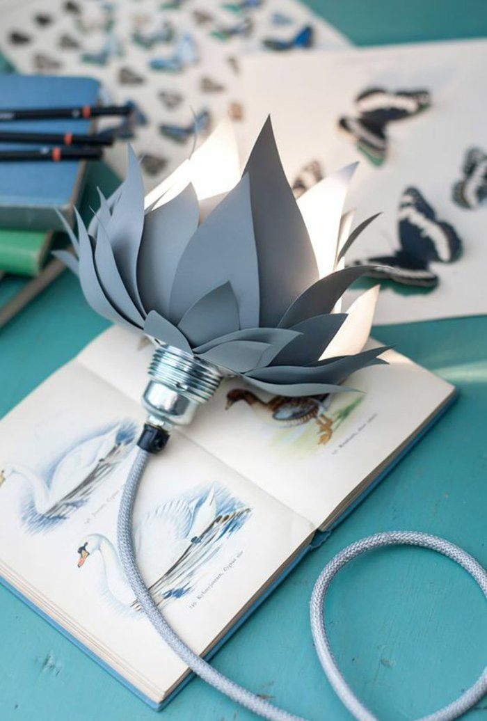 Cool Lampen selber machen DIY Lampen Blume Lampenschirm basteln
