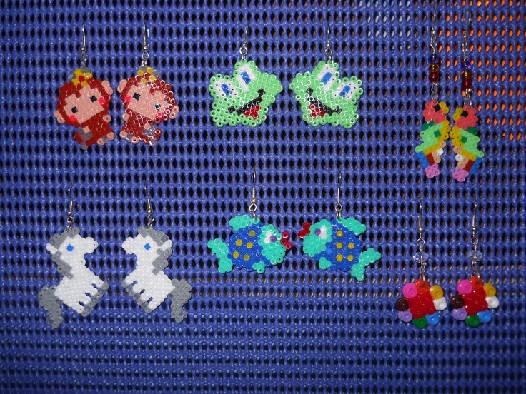 Hama beads earrings