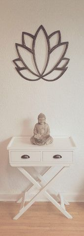 Lotus flower wall decor - In Stock Reduced, $50 - recycled & handmade - because harmony should be everywhere.