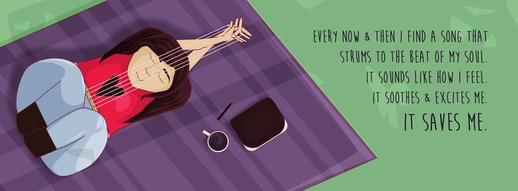 #music Saves - Kayleigh Templeton  #illustratoin #guitar #quotes