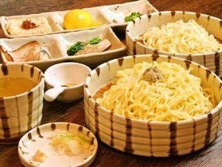 金字塔@赤羽 ☆特選つけそば☆2種類の麺を味わうことができます!最後はお茶で割ってすっきりと〆るのがオススメです!