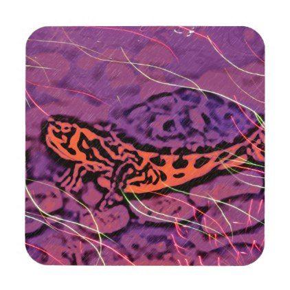 Purple Turtle Beverage Coaster - photos gifts image diy customize gift idea
