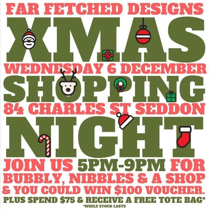 If your around Seddon tomorrow night and haven't started your Christmas shopping like me. Checkout the @farfetcheddesigns shopping night.