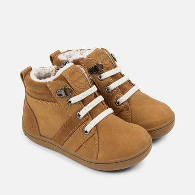 Chlapčenské topánky s kožušinou Mayoral - Camel