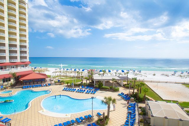 The Hilton Pensacola Beach Hotel Is Located Directly On The Beach In Pensacola Beach Explorepcola Pensacola Beach Hotels Pensacola Beach Beach Hotels