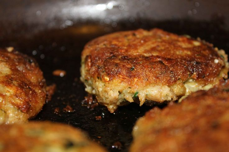 Parmesan Crusted Zucchini Cakes w/ Heirloom Tomato Sauce