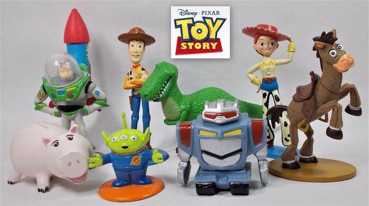 Toy Story - Bundle - Mini Figures X 8 - Disney - Hasbro - Genuine - Official